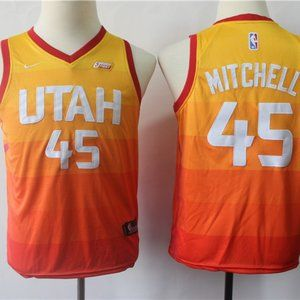 Youth Utah Jazz Donovan Mitchell Yellow Jersey
